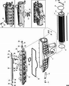Mercury Marine 250 Hp Verado  4  Intake Manfifold Parts