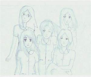 Group Of Anime Friends Drawing | www.pixshark.com - Images ...