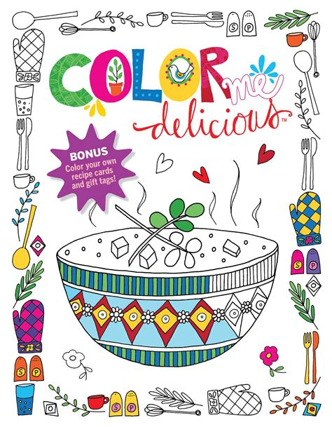color me coloring book color me delicious coloring book book by editors