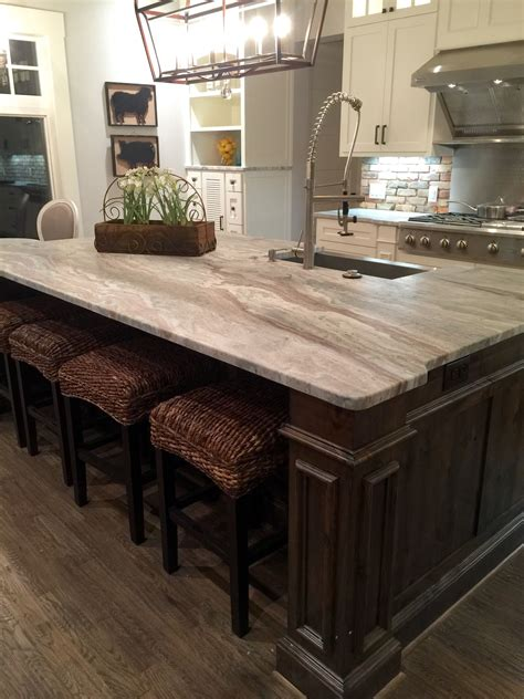 kitchen island with granite countertop transitional farmhouse with leathered granite
