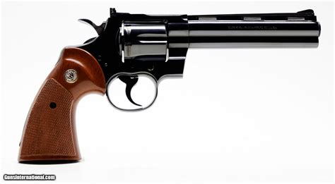 Colt Python 357 Mag. 6 Inch Blue Revolver. Like New In