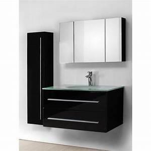 meuble salle de bain design simple vasque 90 cm avec With salle de bain design avec meuble vasque 90