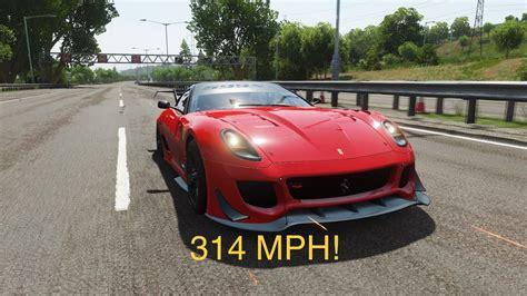 Ferrari 599xx evolution (build/tune) gameplay hope you guys enjoy drop a like. FH4 | Reaching 300 MPH - YouTube