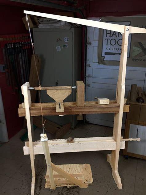 build  spring pole  treadle lathe hand tool school  incarnation  spring pole