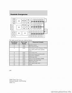 Lincoln Town Car 2009 Owners Manual