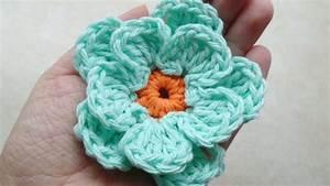 Crochet How To  Crochet Easy Flower  Tutorial  217
