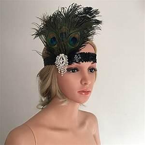 6203736f036 gazechimp bandeau plume vintage headband cristal accessoire habillage  costume pour femme cheveux