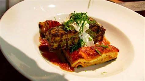 Cilantro Salmon with Smoky Tomato Habanero Lasagne   The