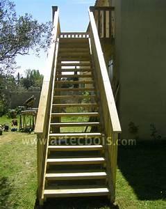 Hauteur Marche Escalier Extérieur : artecbois balcons en bois et terrasses suspendues et balcons en bois en hauteur nice cote d ~ Farleysfitness.com Idées de Décoration