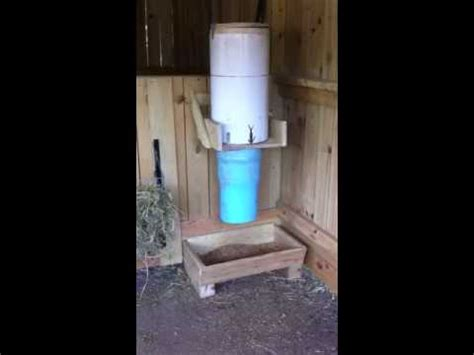 automatic goat feeder youtube