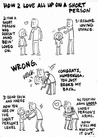 Short Tall Problems Boyfriend Person Hug Girlfriend