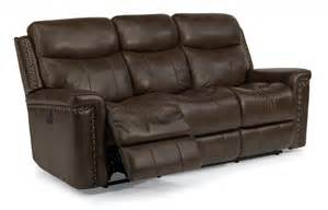 flexsteel living room leather power reclining sofa 1339