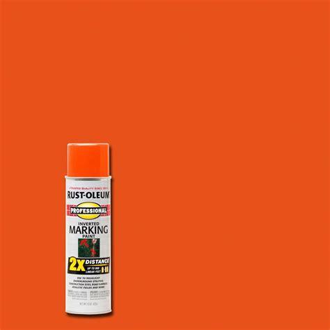 orange paint color in home depot commercial rust oleum professional 15 oz 2x fluorescent orange marking spray paint 266590 the home depot