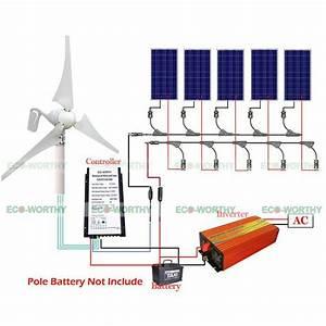 900w Kit 5 100w Solar Panel  U0026400w Wind Turbine Generator