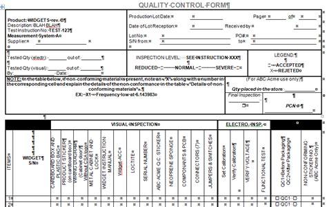quality control form  microsoft word  excel