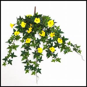 26in. Morning Glory Vine, Outdoor Rated - Yellow
