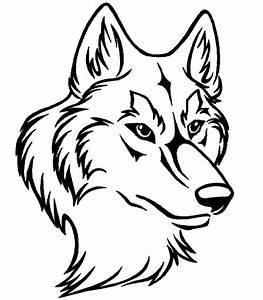 Wolf Face Drawing - ClipArt Best