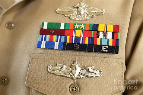 Closeup View Of Military Decorations Photograph By
