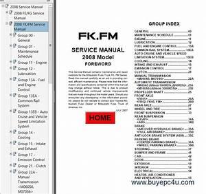 Mitsubishi Fuso 2008 Service Manual