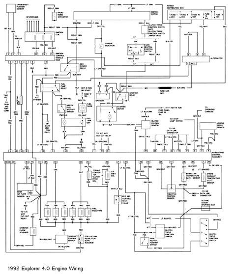 1992 ford explorer wiring diagram 1992 ford explorer 2 door 4x4 free wiring diagram