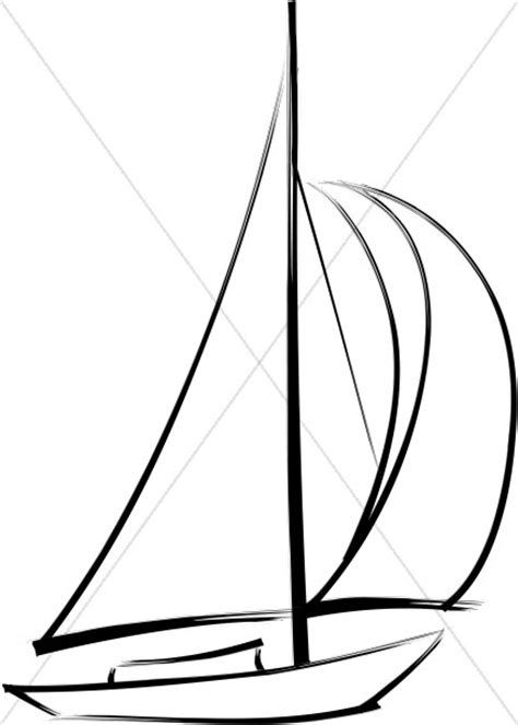wind blowing  sails church activity clipart