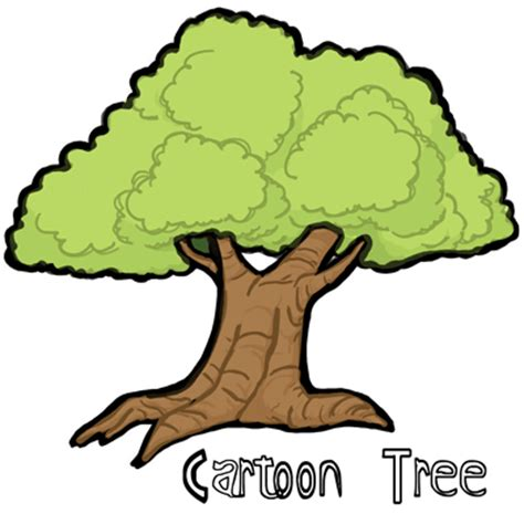 draw cartoon trees  easy step  step drawing