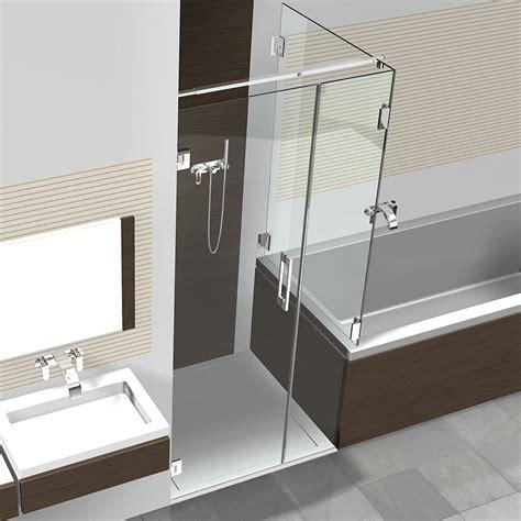 dusche und badewanne nebeneinander glasdusche mit badewannenaufsatz hier kaufen