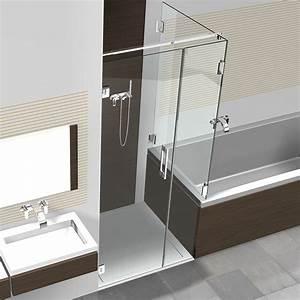Dusche Und Badewanne Kombiniert : glasdusche mit badewannenaufsatz hier online kaufen ~ Markanthonyermac.com Haus und Dekorationen
