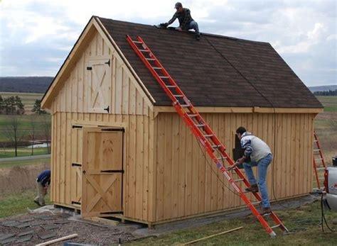 cabin shed board  batten raised roof sheds