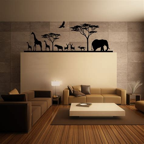 stickers pour chambre adulte sticker savane africaine et ses animaux