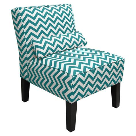 chevron accent chair in teal white for the home