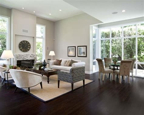 Wohnzimmer Mit Dunklem Boden by Stained Hardwood Floor Ideas Pictures Remodel And Decor