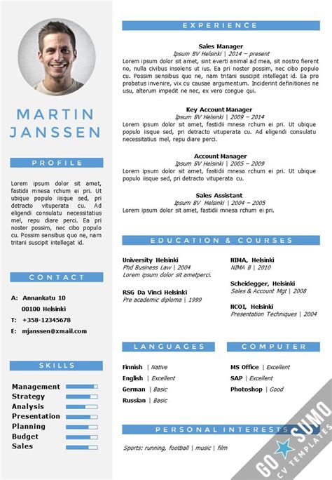 Free Resume Templates In Word by Cv Resume Template In Word Fully Editable Files Incl 2nd