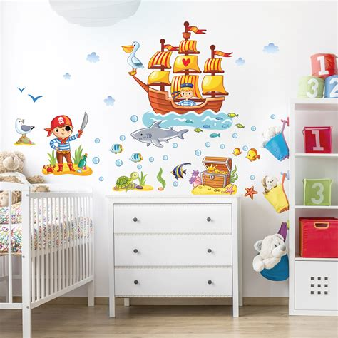 Wandtattoo Kinderzimmer Piraten by Wandtattoo Kinderzimmer Piraten Set