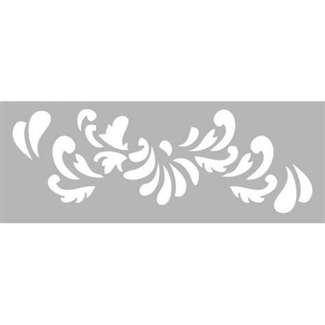 pochoir pour frise murale pochoir frise arabesque 15x40cm tout 224 creer