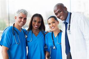 Multiracial medical team stock photo. Image of ...