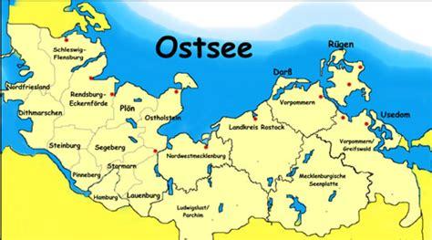 Ostseeküste Karte Deutschland