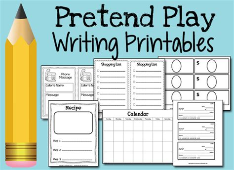 recipe daily sweepstakes calendar free pretend play writing printables homeschool giveaways