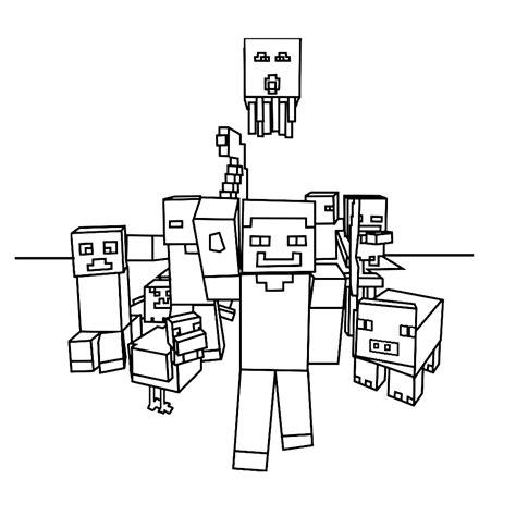 Kleurplaat Minecr by Leuk Voor Verschillende Personages Uit Minecraft