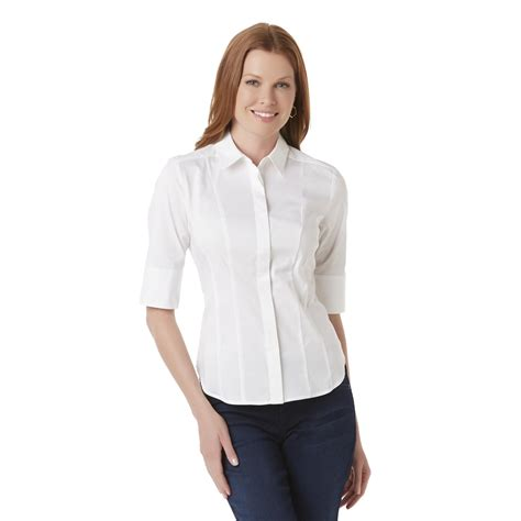 fitted blouses covington 39 s sleeve fitted blouse