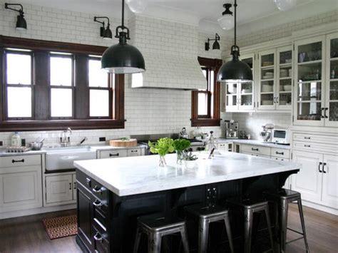 favorite black  white kitchens  instagram hgtv