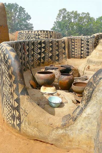 Village African Faso Burkina Houses Clay Traditional