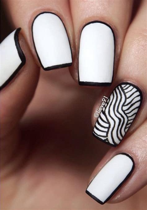 black  white nail art designs nenuno creative
