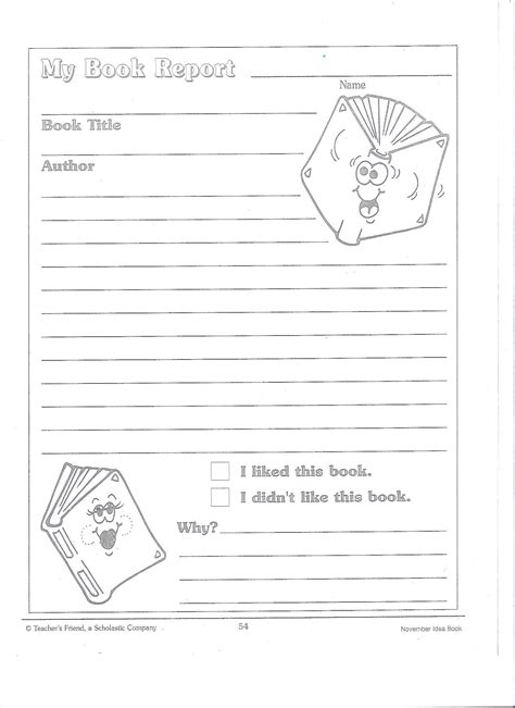 2nd Grade Book Report Forms printable book report forms miss murphy s 1st and 2nd