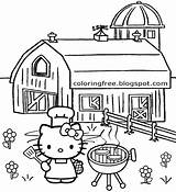 Coloring Hello Kitty Pages Sydney Opera Teenage Printable Countryside Drawing Cooking Activities Outdoor Sheets Bbq Balloon Getcolorings Garden September Fairy sketch template