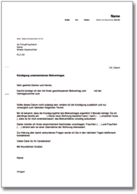kündigung mietvertrag musterbrief dehoga shop k 252 ndigung mietvertrag mieter nachmieterangebot kaufen