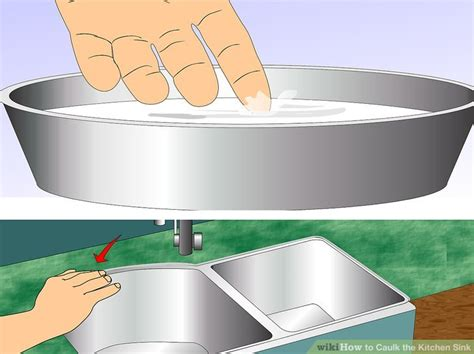 kitchen sink caulking how to caulk the kitchen sink with pictures wikihow 2610