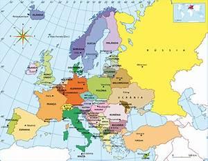 Mapa De Europa Fotos