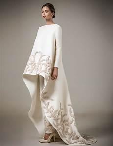ivory handmade appliques muslim evening dresses long With robe de soirée longue chic