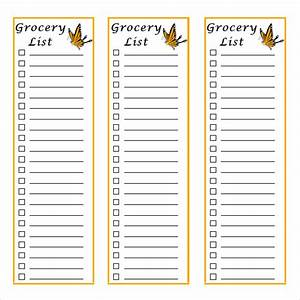 Grocery List Template - 9+ Free Samples, Examples, Format